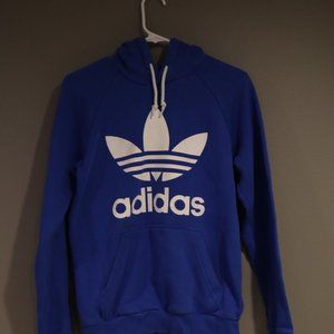 Blue Adidas Hoodie Size Small
